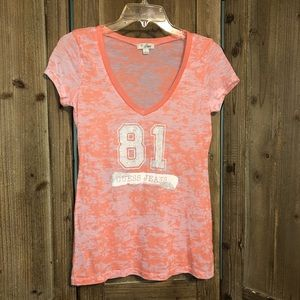 Guess v-neck tee. Large